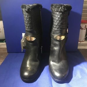 NWT real fur winter heeled boots Michael Kors
